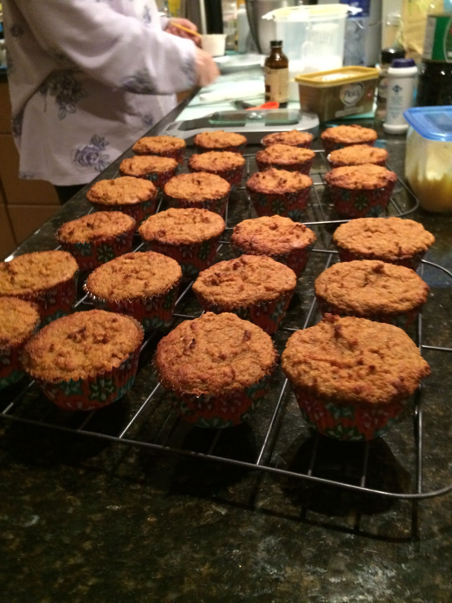 Carrot cupcakes with cream cheese frosting almond