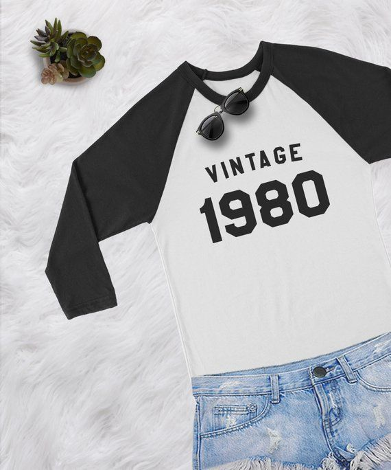 633544c8 38th birthday gift shirt for women baseball tee shirt women long sleeve  tshirt graphic tees vintage