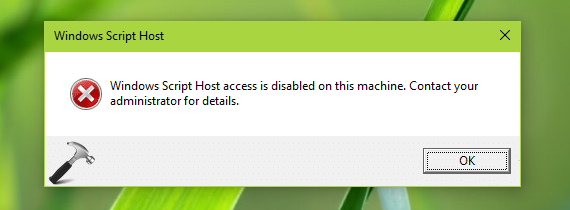 Fix windows script host access is disabled on this machine in this article learn how to fix windows script host access is disabled on this machine error via simple registry manipulation on windows ccuart Choice Image