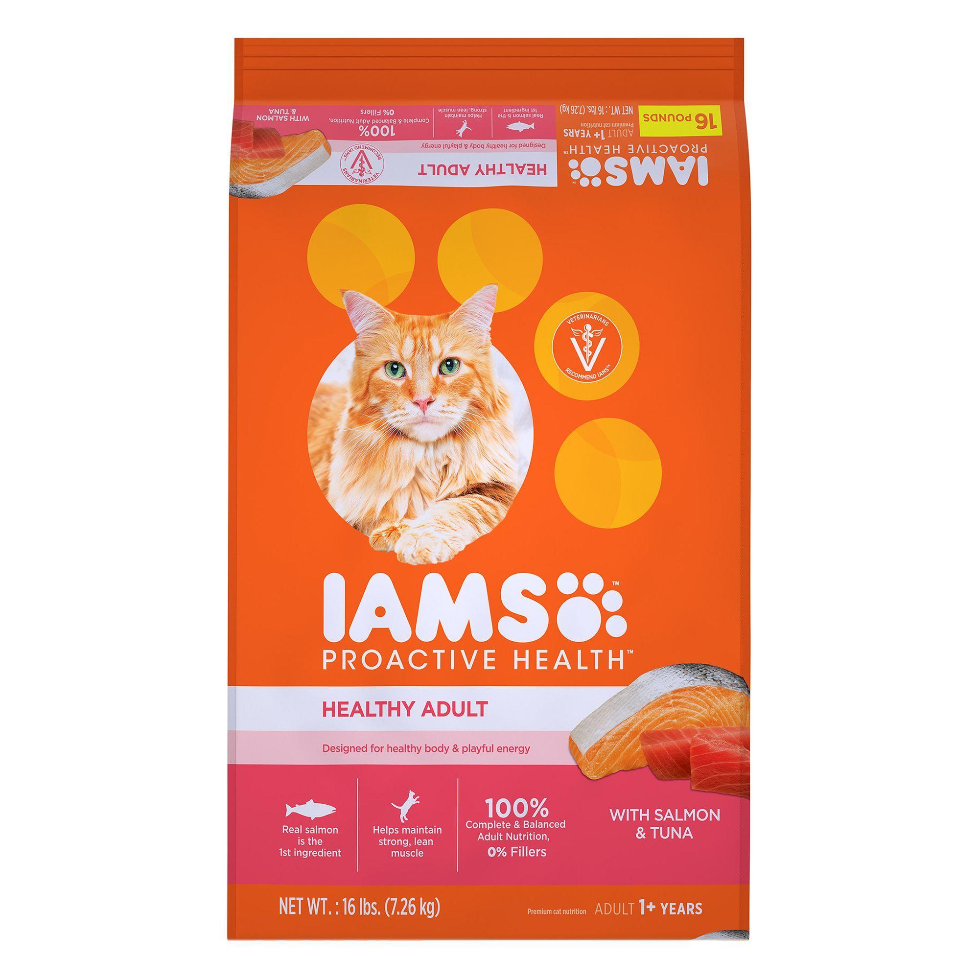 Iams Proactive Health Healthy Adult Cat Food Salmon And Tuna