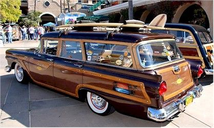 woody wagon w/ old school board Fords had nicer lines than Chevies, in my  opinion. - Re-pin Brought To You By Agents Of #Carinsurance At