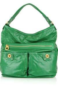 Emerald green Marc Jacobs bag, I have to have this omg.