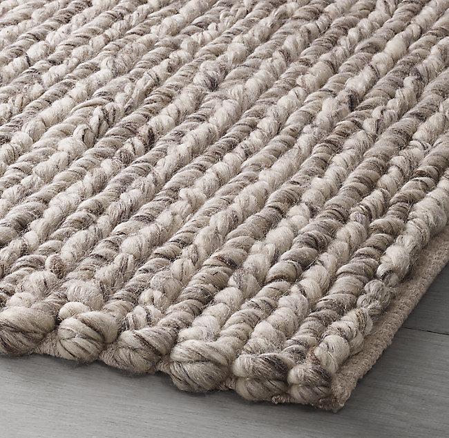 Hand Braided Textured Wool Rug In 2020 Wool Rugs Living Room Oval Braided Rugs Round Braided Rug