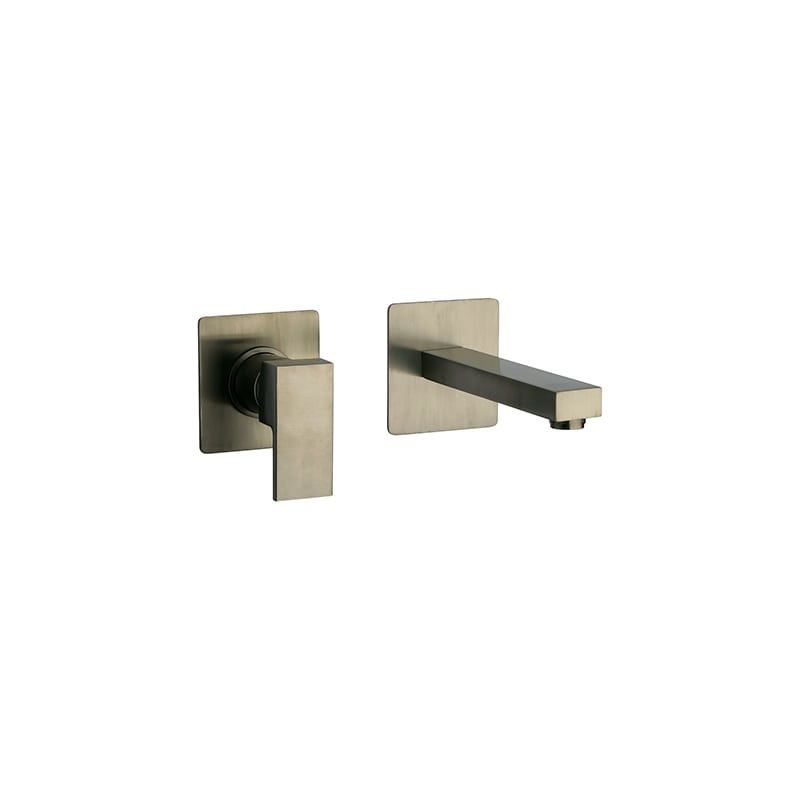 Fortis 8420800 Scala Wall Mounted Bathroom Faucet - Free Rough-In Valve with pur Brushed Nickel Faucet Lavatory Single Handle