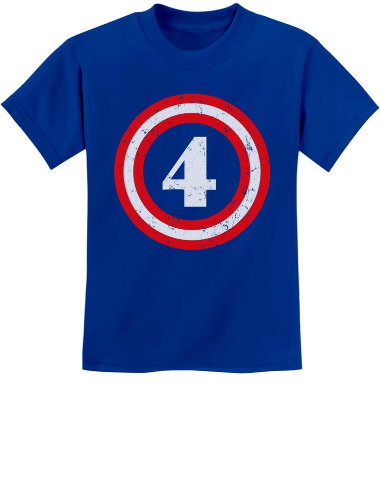 26a747371 Captain 4th Birthday - Gift for Four Years old Youth Kids T-Shirt Cool
