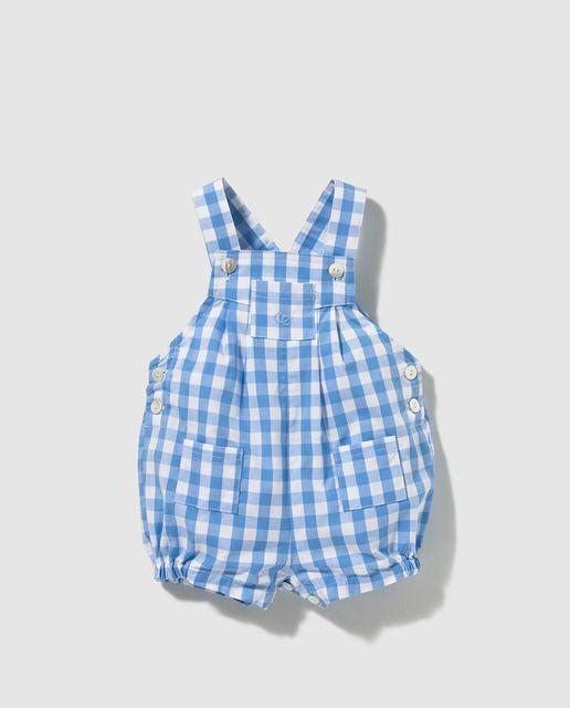 49f4711ed Peto de bebé niño Dulces de cuadros vichy azules   BABY/TODLER ...