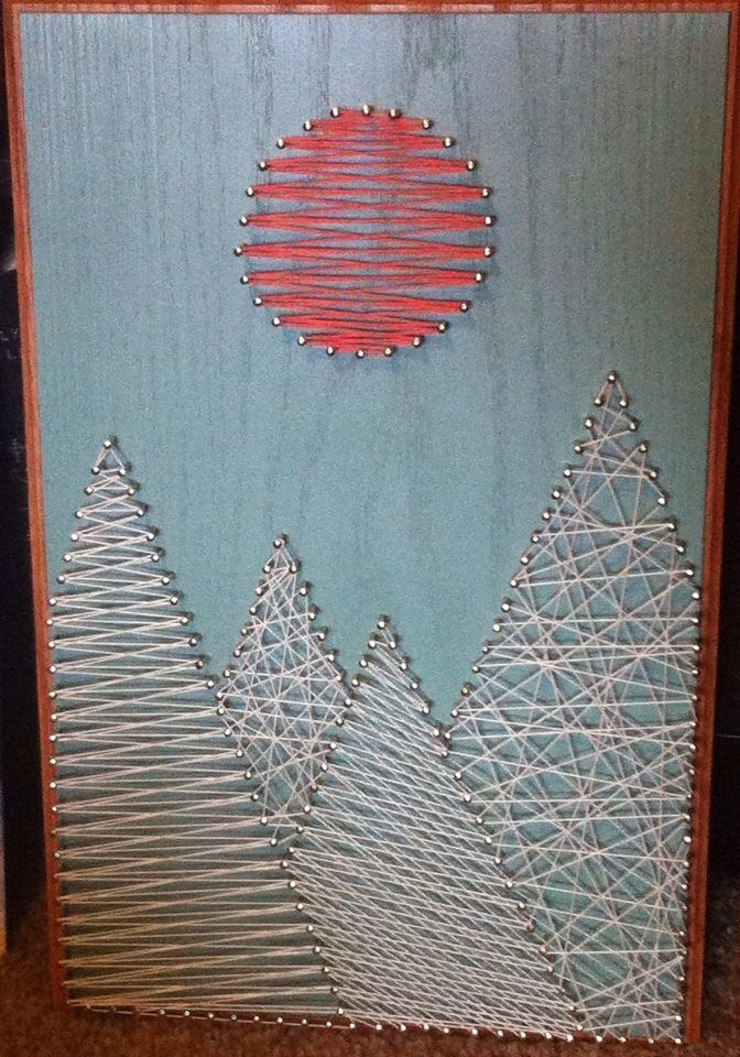 Mountains String Art Things For My Wall Pinterest