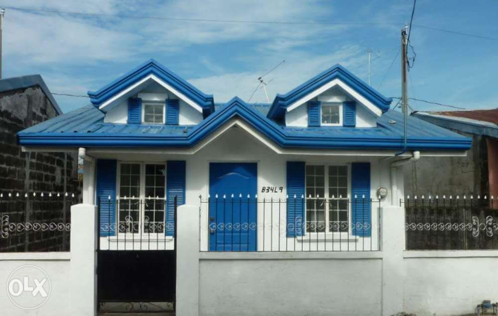 Image Result For Blue Roof House Blue Roof House Roof House Styles