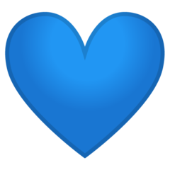 Blue Heart On Google Android 9 0 Blue Heart Emoji Blue Heart Blue Emoji
