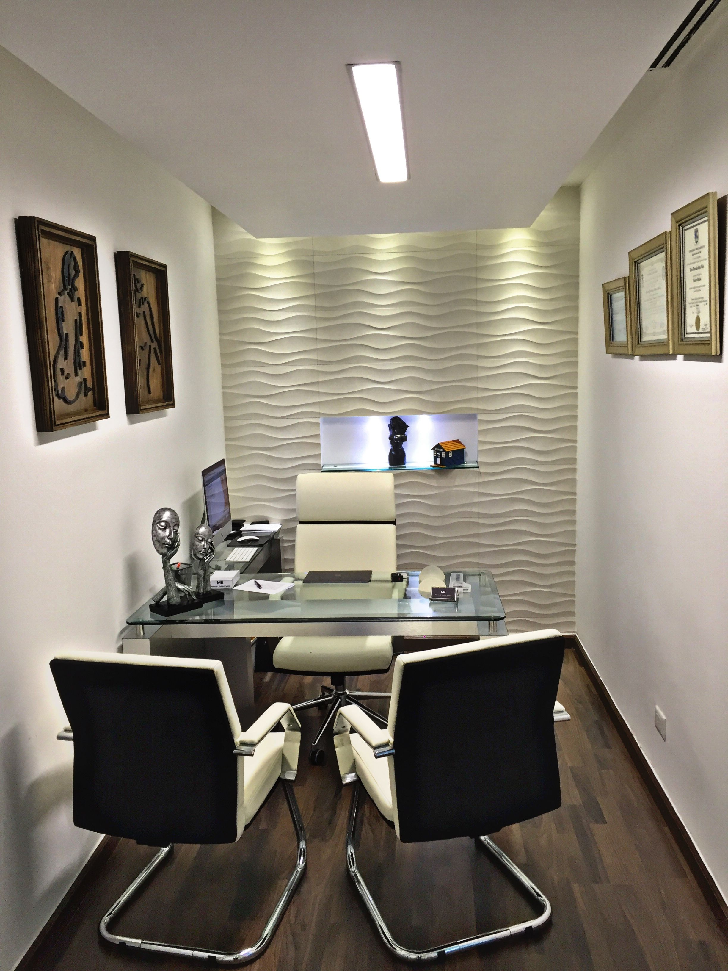 Dr m office santo domingo dominican republic for Small office cabin interior design ideas