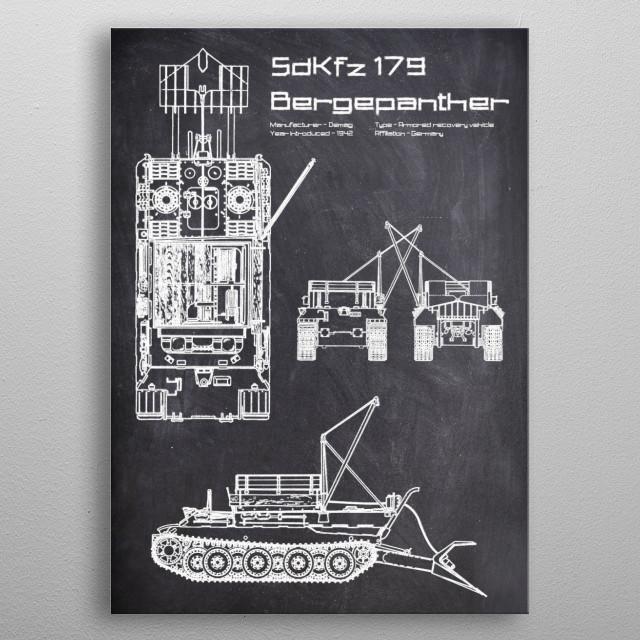SdKfz 179 Bergepanther by FARKI15 DESIGN | metal posters - Displate | Displate thumbnail