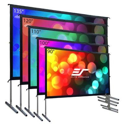 Elite Screens Yardmaster2 White Portable Projection Screen Viewing Area 90 Diagonal Outdoor Projector Screens