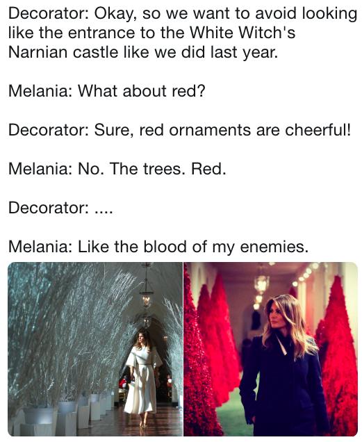 Melania Trump S Christmas Decorations Funny Instagram Posts Bollywood Funny Haha Funny