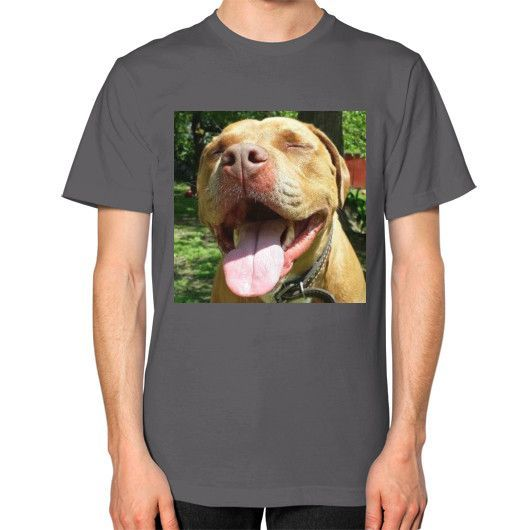 THE HAPPY DOG COLLECTION (UNISEX T-SHIRT on man)