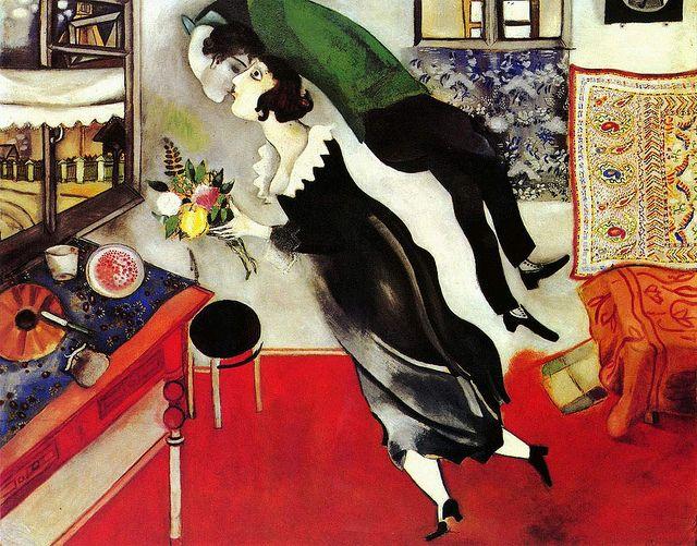 Marc Chagall - Kiss | Chagall paintings, Marc chagall, Chagall