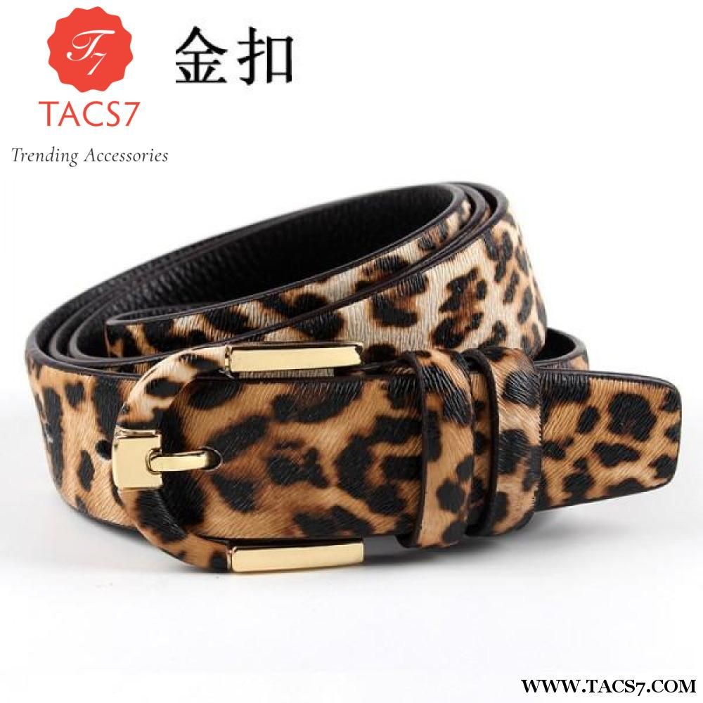 9df2ce0b5e Lucidity Designer Women Belt Brand Leopard Print Metal Needle Buckle ...