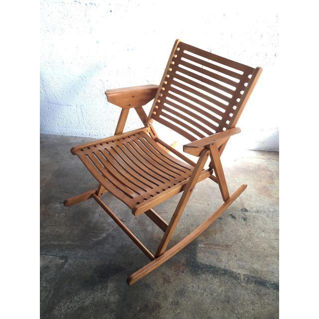 Image Of Niko Kralj Vintage Rex Folding Rocking Chair Folding Rocking Chair Rocking Chair Chair