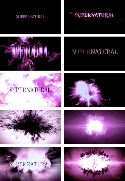 [gifset] Supernatural title cards in alternative colors #SPN
