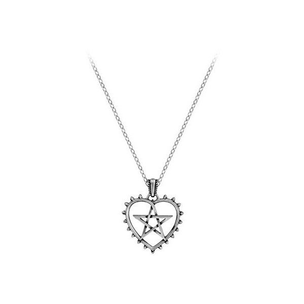 Alchemy Gothic Cunning Heart Necklace ❤ liked on Polyvore featuring jewelry, necklaces, heart shaped necklace, heart pendant necklace, heart pendant, heart pendant jewelry and heart shaped pendant necklace