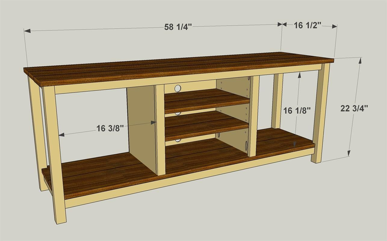 Easy-To-Build TV Stand - buildsomething.com (With images ...