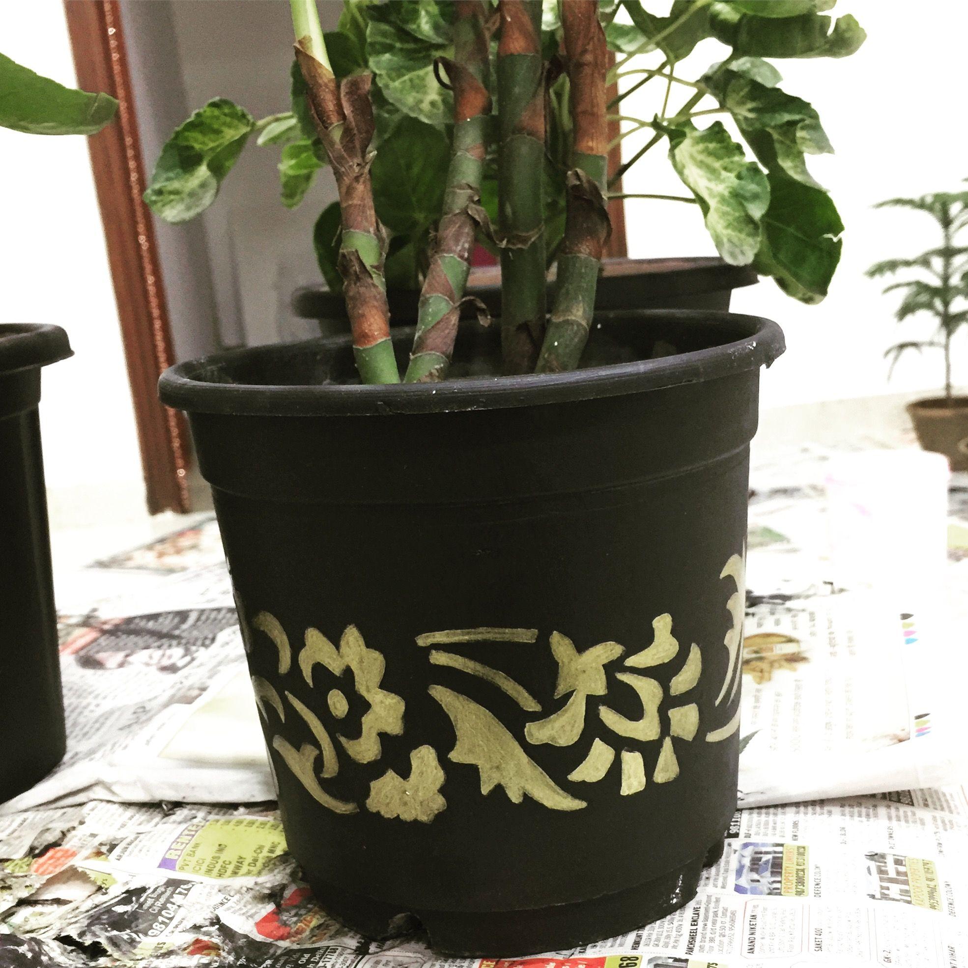 Self painted flower pot for sale. artwork art artist