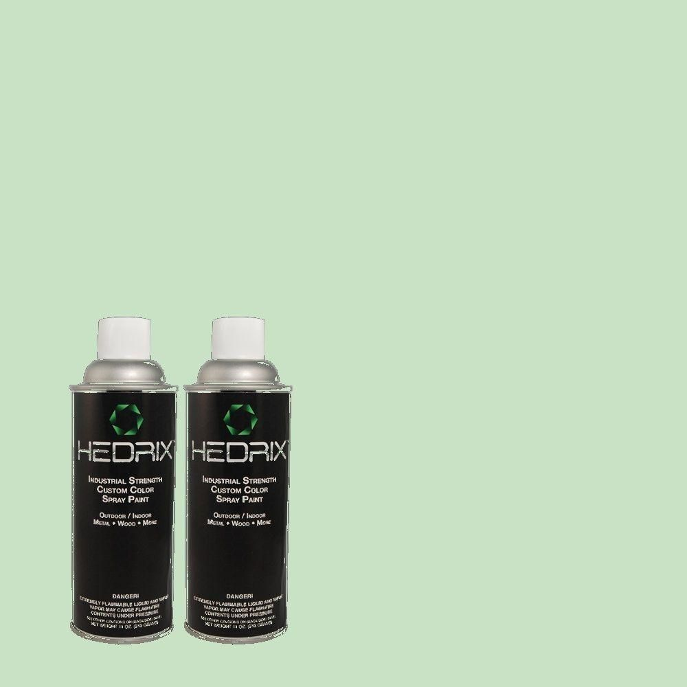 Hedrix 11 oz. Match of 470C-3 Spirited Green Semi-Gloss Custom Spray Paint (2-Pack), Color Match Of 470c-3 Spirited Green. Available In Multiple Sheens.