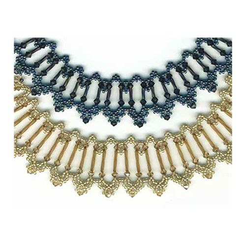 Crystal Bugle Beaded Necklace Pattern | Bead-Patterns.com