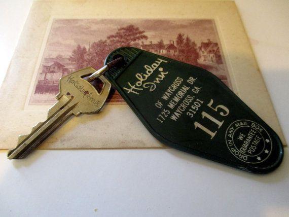 Holiday Inn Room Key Key Chain Room 115 Waycross Georgia Vintage Keys Holiday Inn Original Collectibles