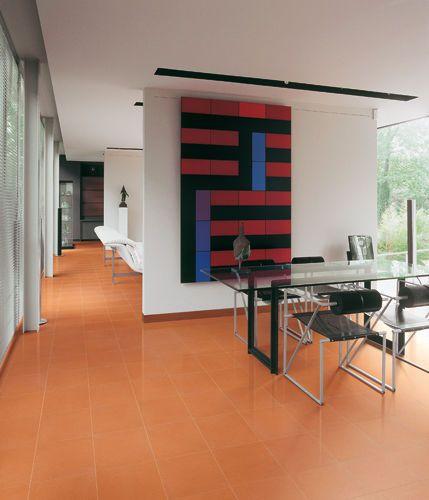 Bodenfliese   aus Terrakotta   Matte   rot IL PALAGIO Wohnzimmer - wohnzimmer orange rot