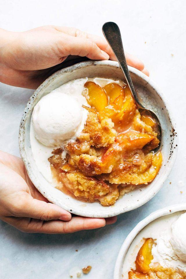Best Peach Cobbler #peachcobblercheesecake