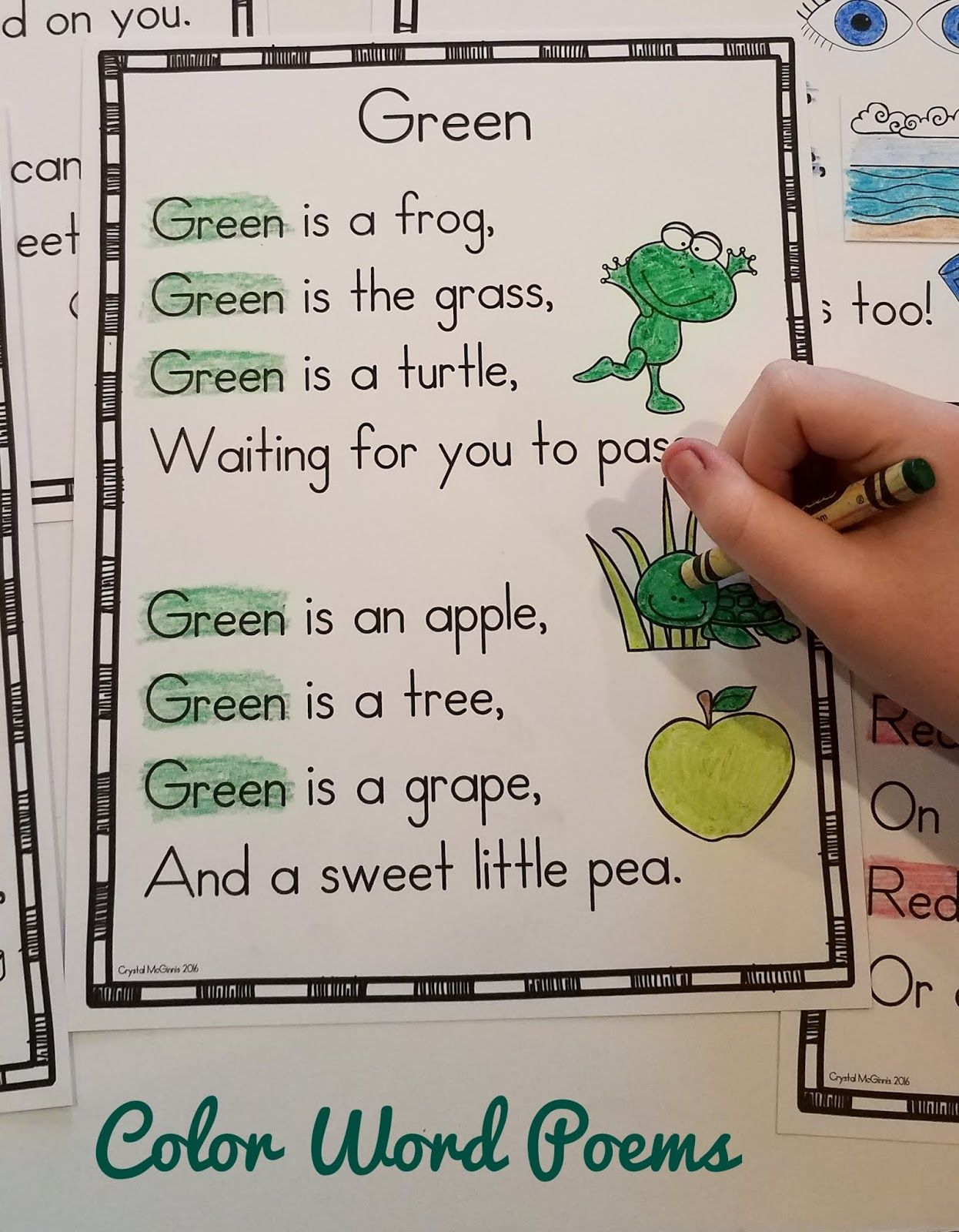 Color Word Poems For Shared Reading Mrs Mcginnis Little Zizzers Shape Poems For Kids Poetry For Kids Shared Reading Poems [ 1600 x 1246 Pixel ]