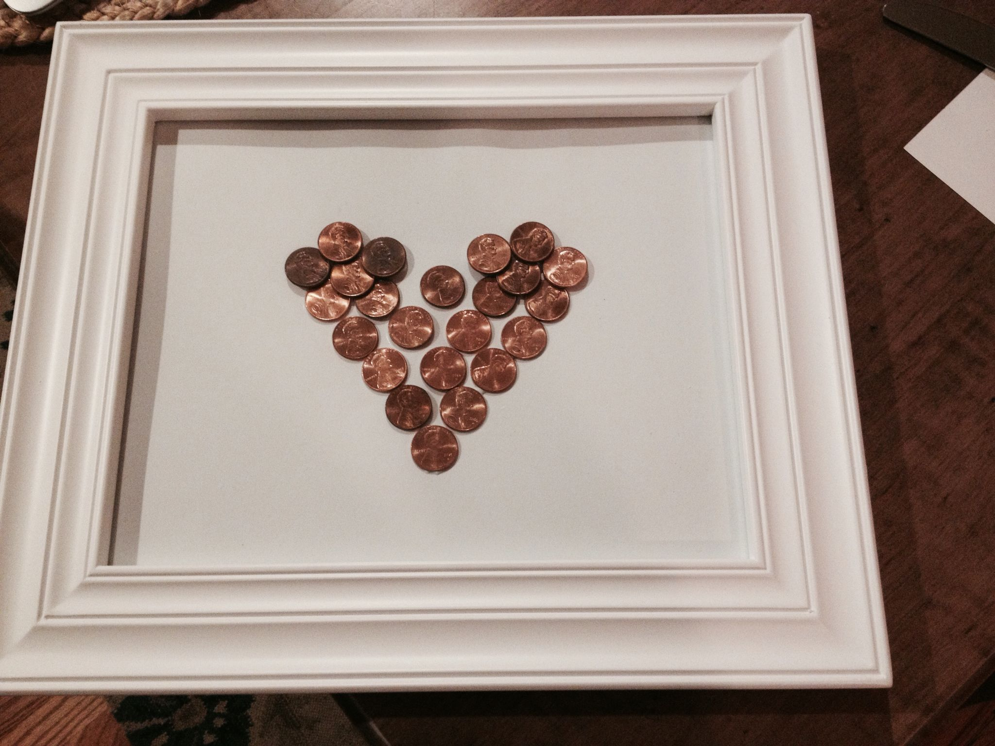Copper Anniversary Made This For My Husband Our 22nd Wedding Each Penny Is From Of The 22 Years Marriage Very Lucky Pennies