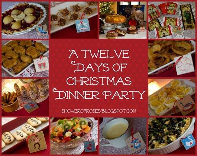Ideas For Christmas Dinner Party Part - 15: Shower Of Roses: Our Twelve Days Of Christmas Dinner Party On Twelfth Night!