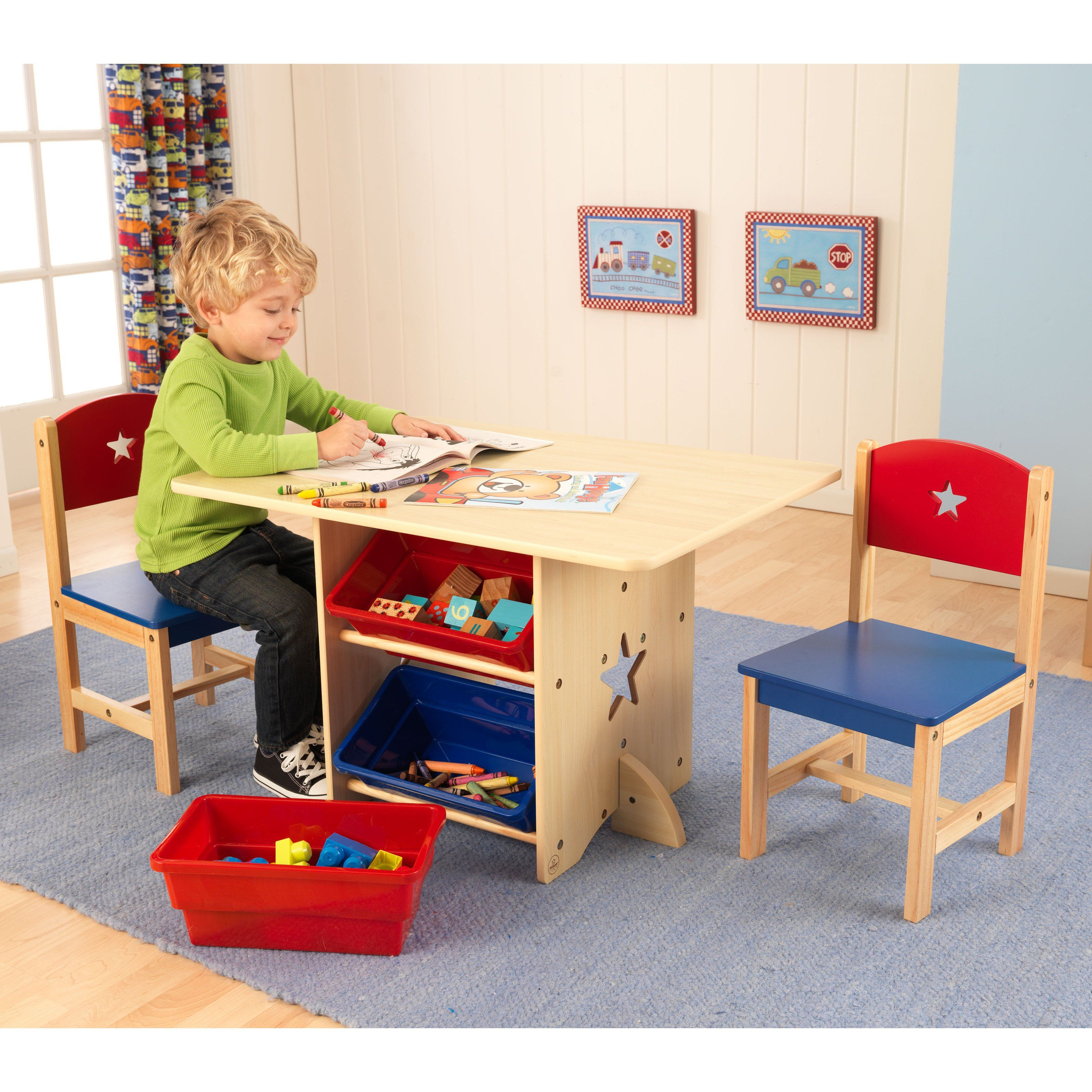 Swell Kidkraft Star Table And Chair Set With Primary Bins 26912 Cjindustries Chair Design For Home Cjindustriesco