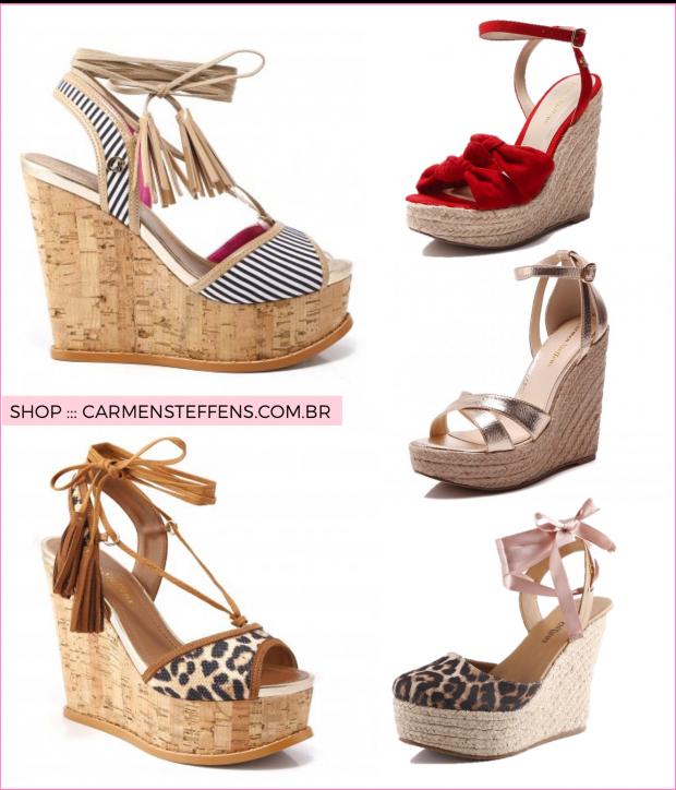 462e6808a Sapatos Femininos · Verão 2017 de salto anabella! - Fashionismo Sandálias  Anabela, Calçado Feminino, Saltos Lindos