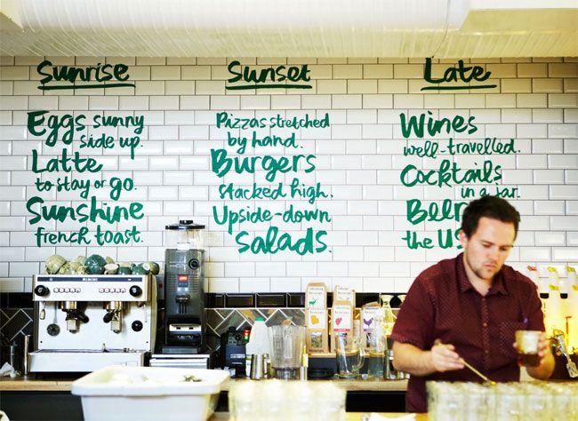 Wild Lime Bar & Kitchen - menu on tile