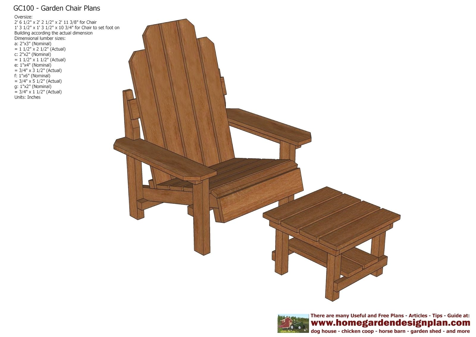 Garden Chair Plans Out Door Furniture Plans Woodworking
