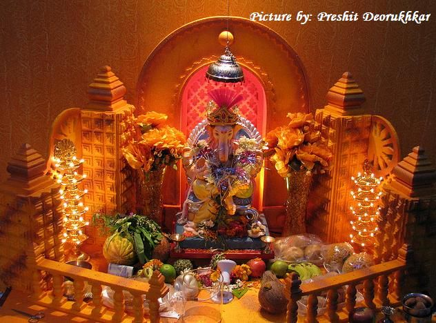 Ganesh Chaturthi Decoration Images For Home The Image Kid Has It