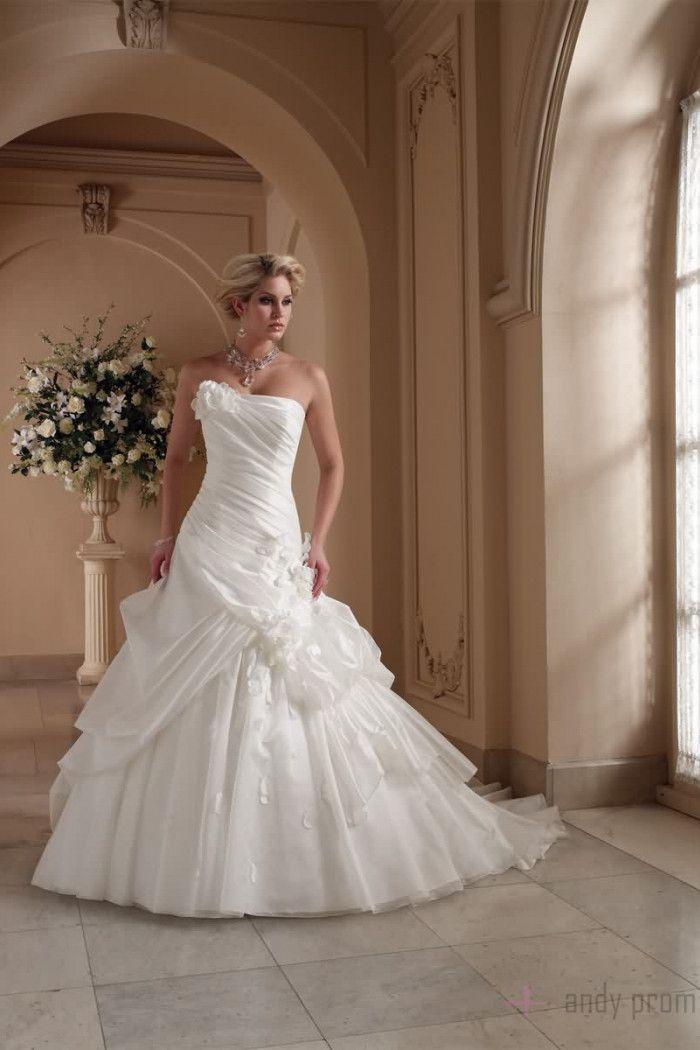 Picks Up Ball Gown Zipper Organza Ruching Wedding Dress