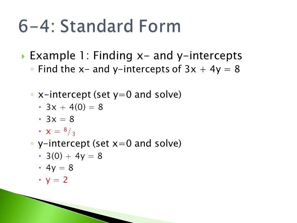 standard form x intercept  Y Intercept In Standard Form 5 Reasons Why People Love Y ...