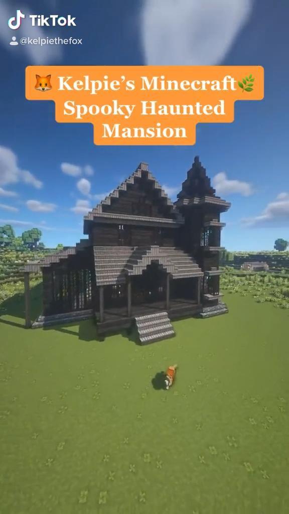Dark Academia Cottagecore Haunted Mansion Minecraf