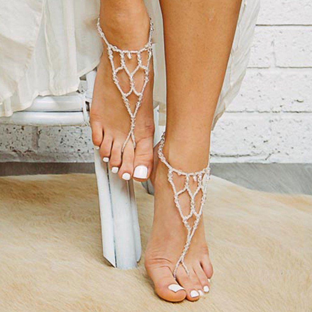 Capri Barefoot Sandals Bare foot sandals, Beaded sandals
