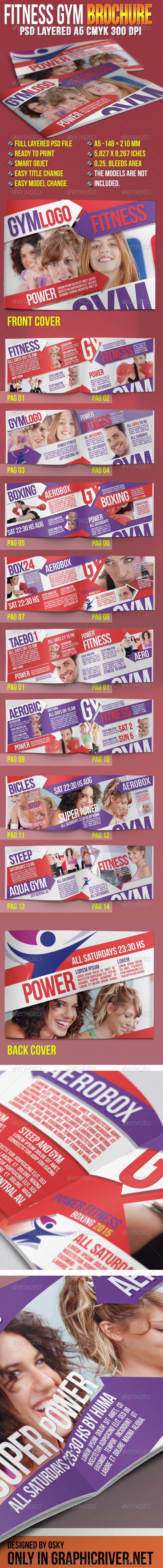 Fitness Gym Brochure  Brochures Gym And Font Free