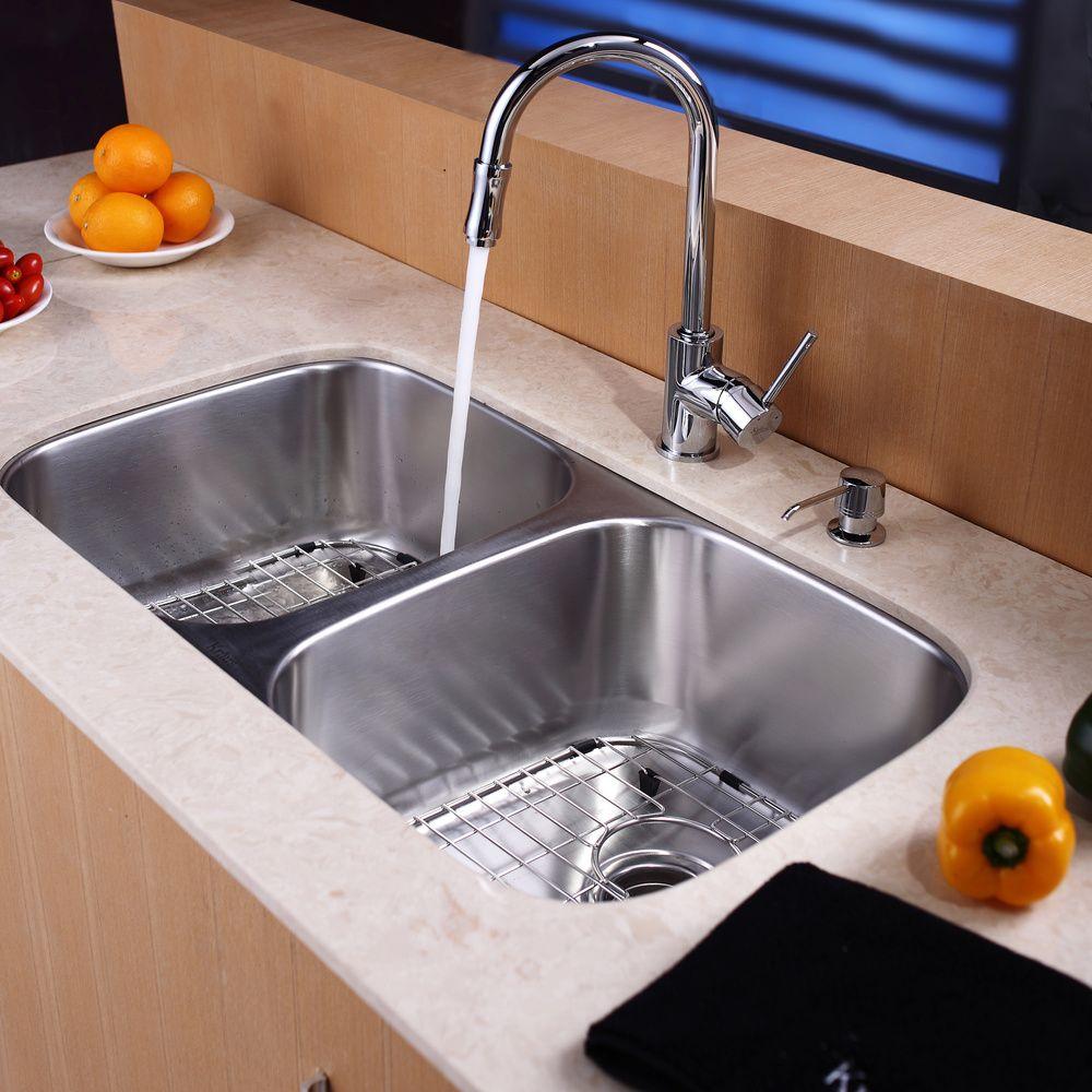 Kraus 32-inch Undermount Steel 16-gauge Kitchen Sink | Overstock.com Shopping - Great Deals on Kraus Kitchen Sinks