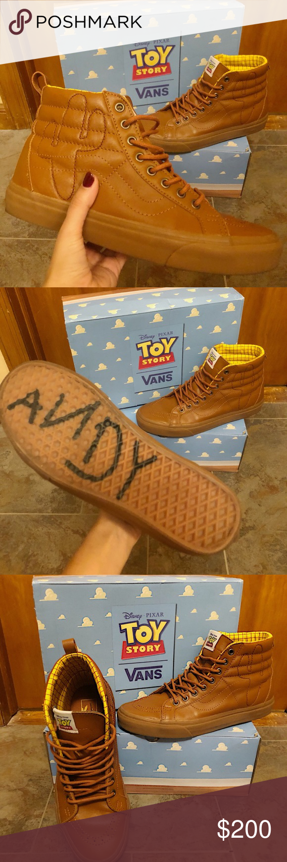 Vans x Toy Story Limited Edition Woody Sk8 Hi </p>                     </div> <!--bof Product URL --> <!--eof Product URL --> <!--bof Quantity Discounts table --> <!--eof Quantity Discounts table --> </div> </dd> <dt class=