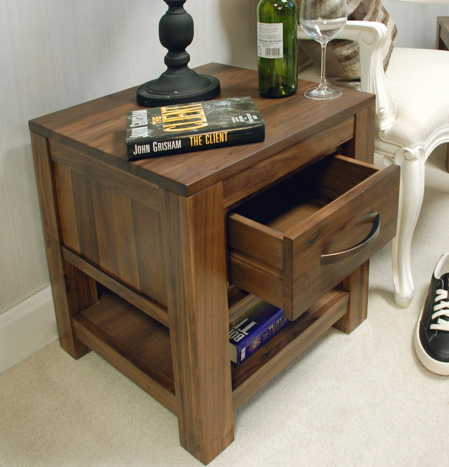 Mayan walnut one drawer lamp table pinterest lamp table drawers we have new pictures of our mayan walnut range this superb one drawer lamp table is a stunning and unique piece of furniture for your bedroom aloadofball Images