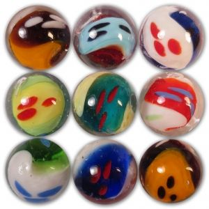 Ghost Marble The Ghost Marble Has Two Differently Colored Paisley Shaped Ghosts Intertwined Throughout The Marble Glass Marbles Marble Art Marbles Crafts