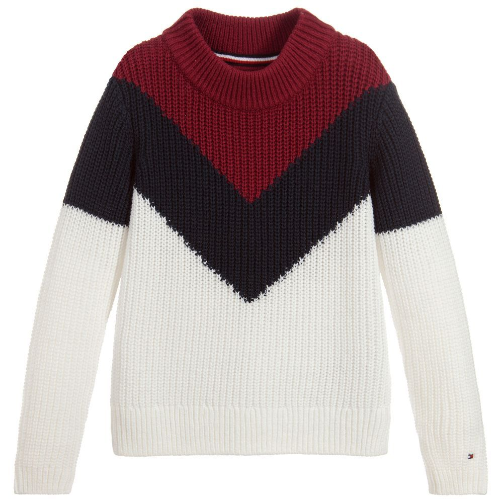 Girls Knitted Cotton Sweater for Girl by Tommy Hilfiger