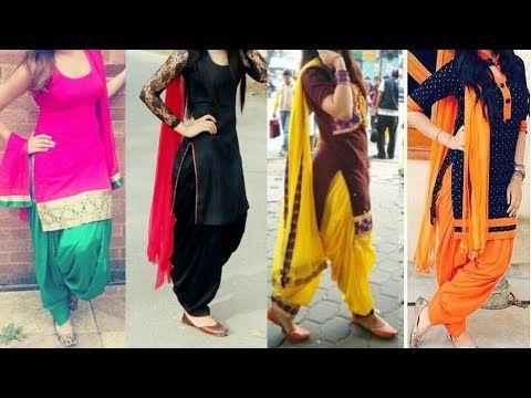 1e2479986f Daily wear simple Punjabi suit designs/patiala Salwar with Kurta dupatta  ideas/latest suit designs - YouTube
