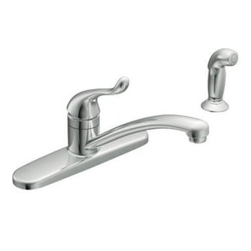 Moen Ca87530 Adler Singlehandle Kitchen Faucet Chrome  Kitchen Cool Single Handle Kitchen Faucet Decorating Design